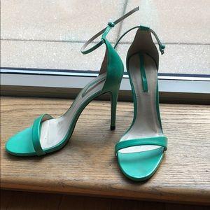Zara size 10 mint green strappy sandal